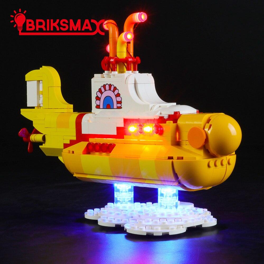 BriksMax Led Light Kit For 21306 Ideas Series Yellow Sub marine Toys Building Blocks Model Lighting Set ONLY